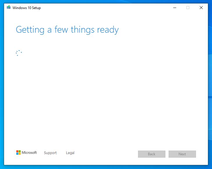 check thông tin hệ thống create windows 10 installation media